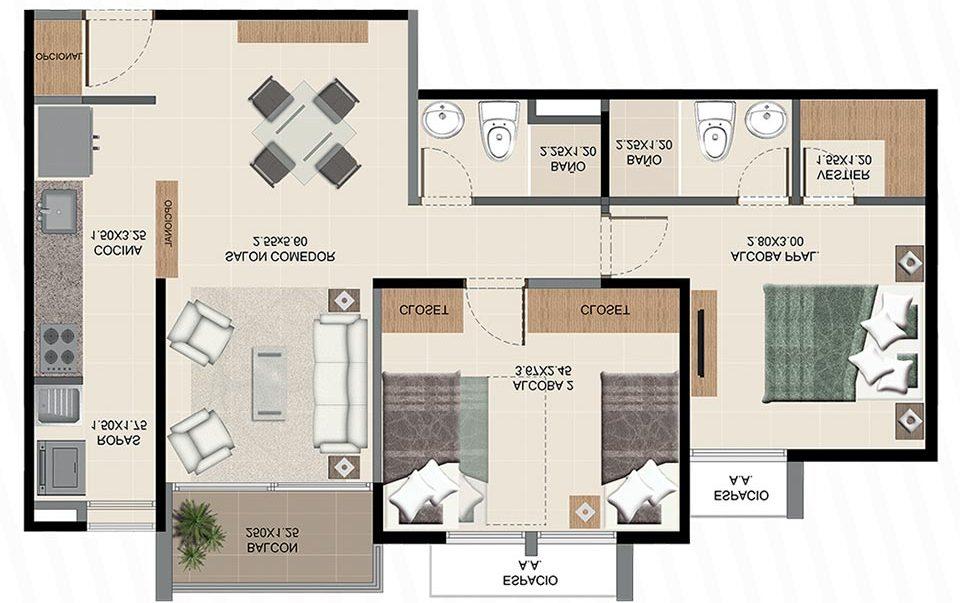 Neos Alameda - Apartamento tipo cuatro