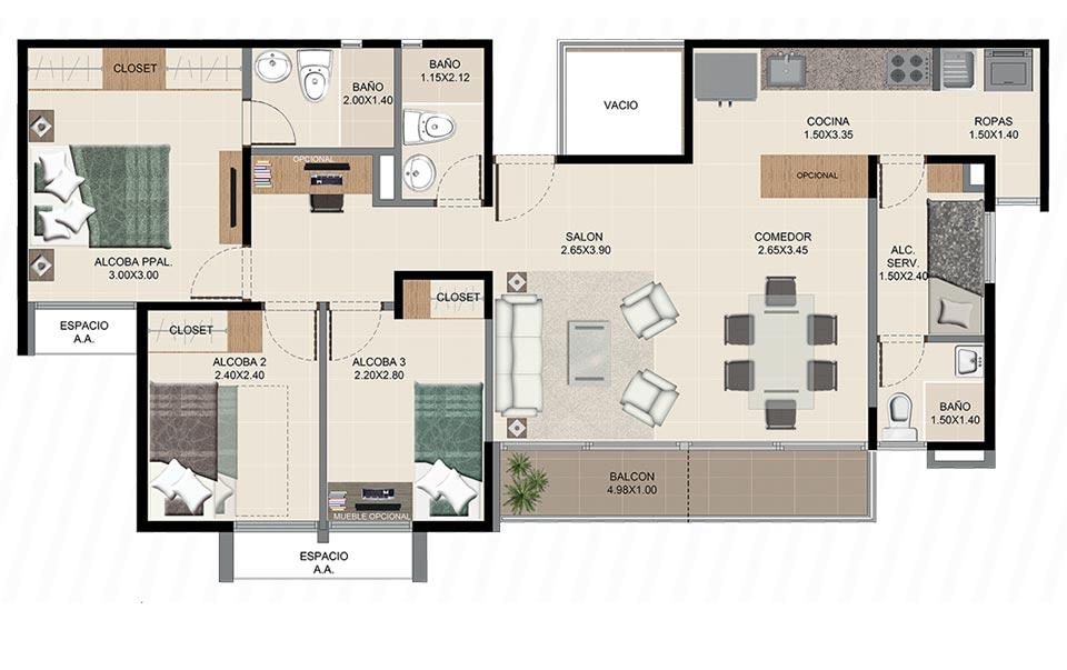 Neos Alameda - Apartamento tipo dos
