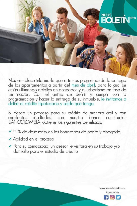 Neos - Alameda - Boletin Ocho - pagina dos