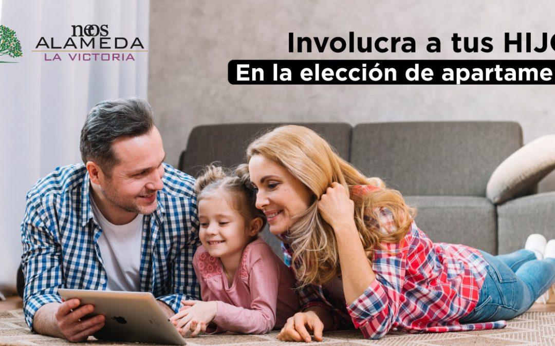 Involucra a tus hijos en la elección de apartamento